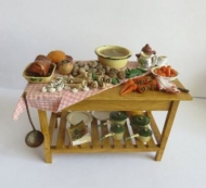 Sunday lunch preparation table
