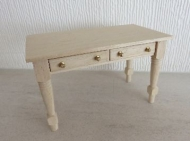 Hand made table with drawers