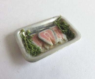 Tray salmon steaks